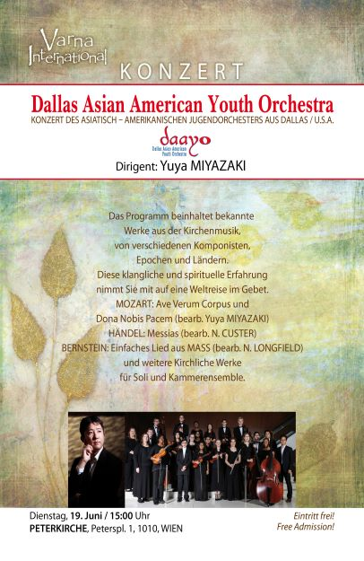 Dallas Asian American Youth Orchestra Tour